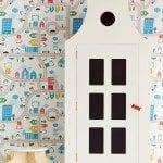טפט צבעוני, אורבני לחדר ילדים
